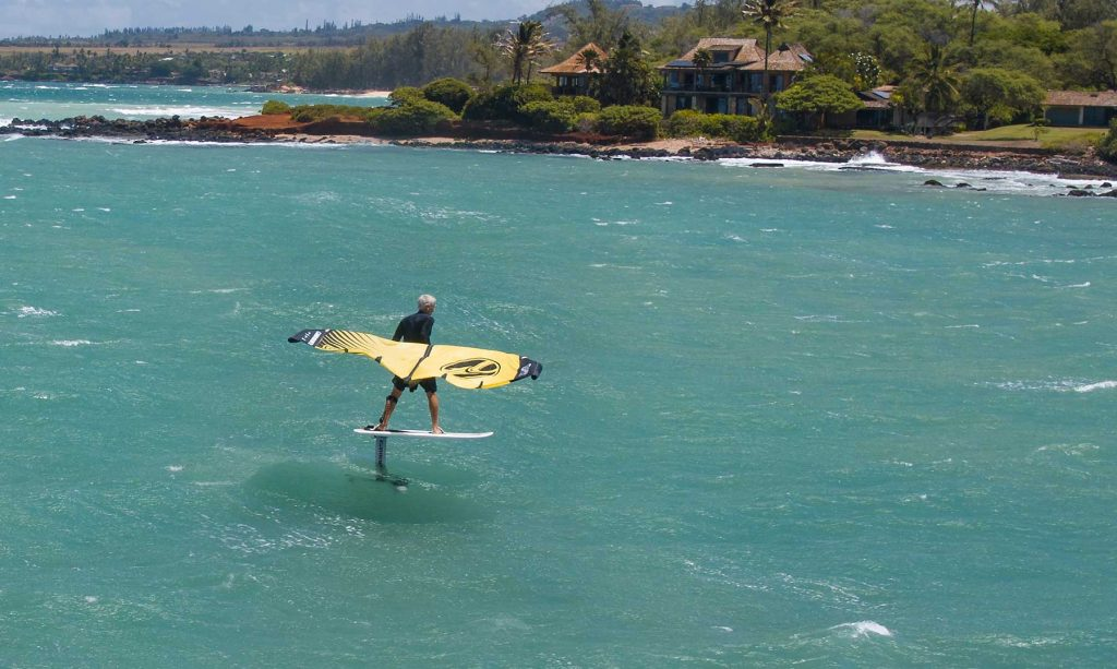 Pete Cabrinha wingsurfing Hawaii