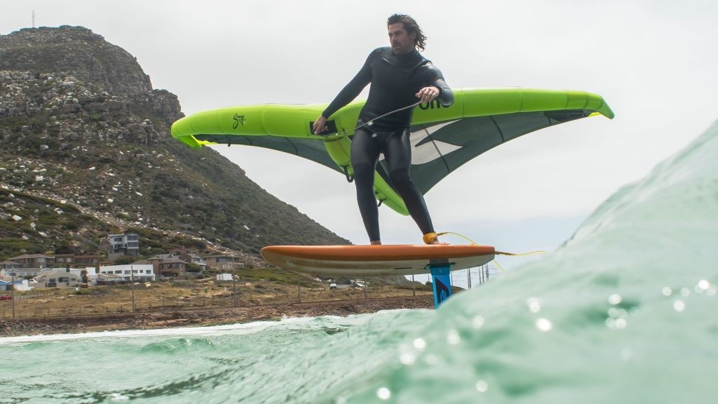 Wing-surfing in Cape Town