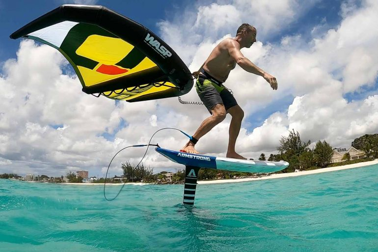 Wingsurfing in Barbados