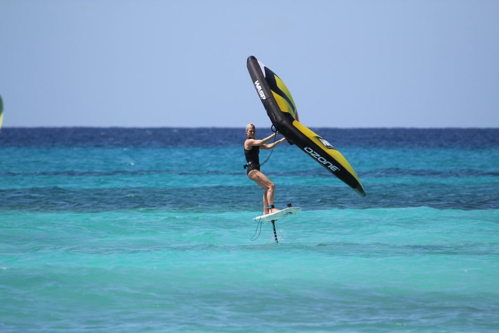 Jess Gent Wingsurfing in Barbados