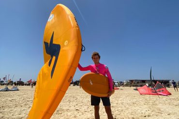 Wing surf demo at Cape Verde World Cup