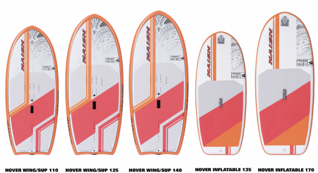 Naish Wing / SUP and inflatable S25 board range