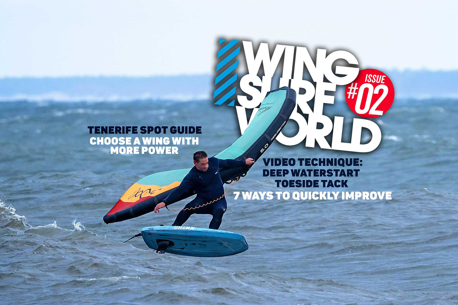 Wing Surf World issue 02, featuring Mark Shinn on the cover