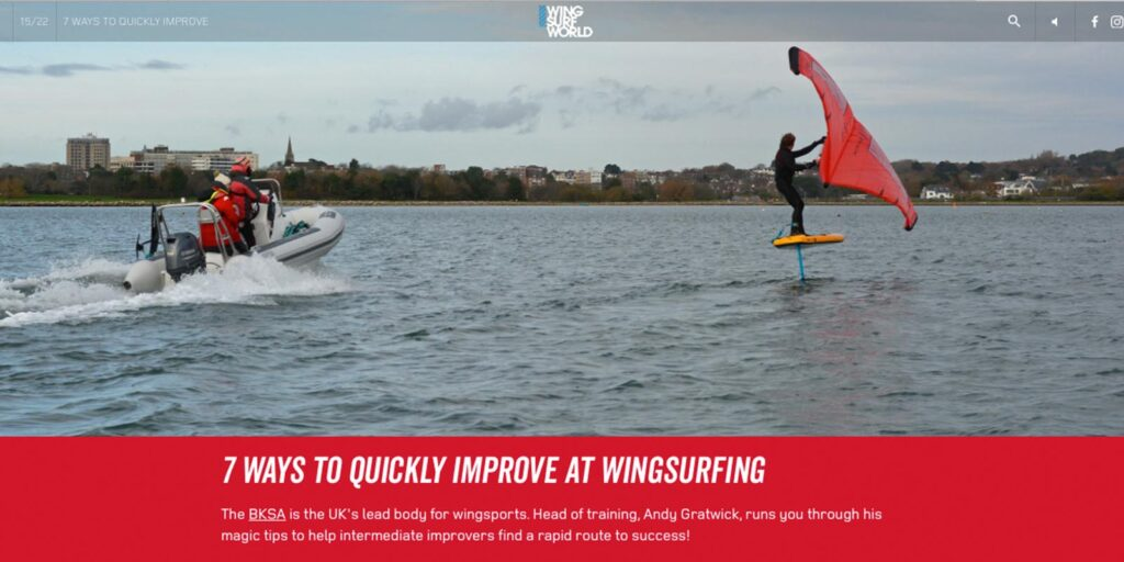 Article in Issue 02 of Wing Surf World to improve you riding