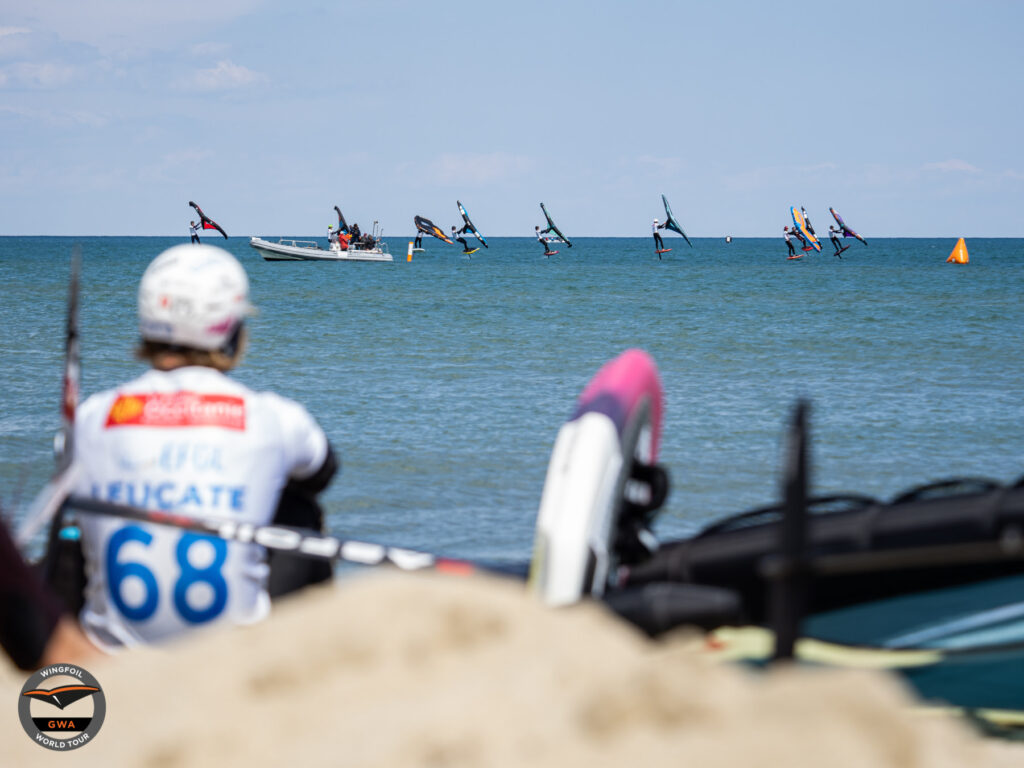 The Surf Race division at the 2021 GWA Mondial du Vent in Leucate