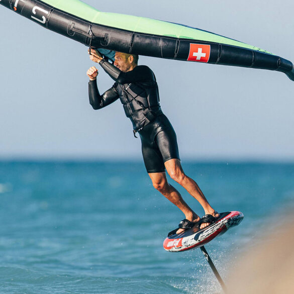Wing surfing in Theologos, Rhodes